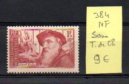 MAURY N° 384   NF Sans Trace De Charnière  N° 27 - Marcophilie (Timbres Détachés)