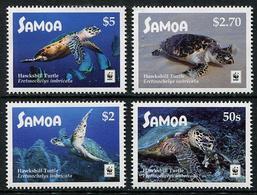 SAMOA 2016 - Faune En Danger, Wwf, Tortues De Mer - 4 Val Neufs // Mnh - Samoa