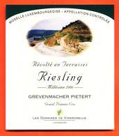étiquette De Vin De Moselle Luxembourgeoise Riesling 2000 Grevenmacher Pietert - Vinsmoselle - 75 Cl - White Wines