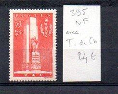 MAURY N° 395  NF Avec Trace De Charnière  N° 32 - Marcophilie (Timbres Détachés)