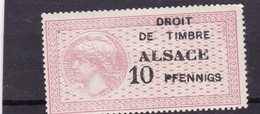 T.F Alsace-Lorraine Neuf N°172 - Revenue Stamps