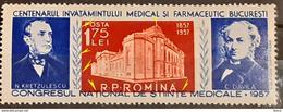 Error Romania 1957, Mi 1638, With Printed  Moved Image Of The Centre  Down Left  Mnh - Variedades Y Curiosidades