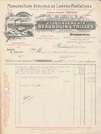 Bordeaux - Ets Beaudouin-Trilles /manufacture Lampes Portatives - France