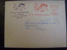 18297-Lettre Avec EMA Ancienne (1958) Thème Char, Chevaux Sur Lettre à En-tête Idem Des Presses Universitaires De France - Cavalli