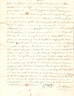 Vieux Papier Du Béarn, Sendets, 1785, Lacaze Dit Chestia Afferme Un Arpent à Jean-Paul Prat, Dette Bordenave - Historische Documenten