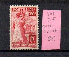 MAURY N° 401  NF Avec Trace De Charnière  N° 36 - Marcophilie (Timbres Détachés)