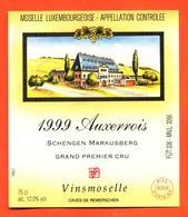 étiquette De Vin De Moselle Luxembourgeoise Auxerrois 1999 Schegen Markusberg - Vinsmoselle - 75 Cl - White Wines