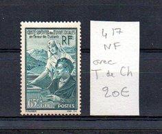 MAURY N° 417  NF Avec Trace De Charnière  N° 39 - Marcophilie (Timbres Détachés)
