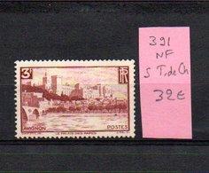 MAURY N° 391  NF Sans Trace De Charnière  N° 41 - Marcophilie (Timbres Détachés)
