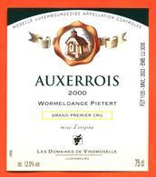 étiquette De Vin De Moselle Luxembourgeoise Auxerrois 2000 Wormeldange Pietert - Vinsmoselle - 75 Cl - White Wines