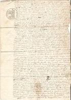 Vieux Papier Du Béarn, Ousse, 1833, Contrat De Colonage Entre Delas De Pau Et Les Courrèges De Sendets - Historische Documenten