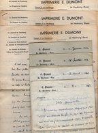 VP16.742 - Guerre 39 / 45 - 8 Lettres De Mr E. DUMONT Imprimeur à LE NEUBOURG Pour Melle S. DORM à PARIS - Récit - Manuskripte