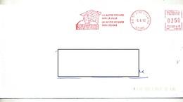 Lettre Flamme Ema Saint Just Lycee Sainte Barbe - Storia Postale
