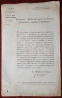 3e Division D'Artillerie . Circulaire Du Ministre De La Guerre Jean-Baptiste Bouchotte . 1793 . Armement Des Volontaires - Documenten