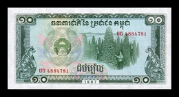 Camboya Cambodia 10 Riels 1987 Pick 34 SC UNC - Cambogia