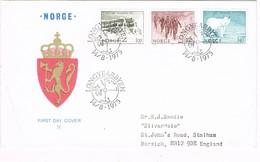 35504. Carta F.D.C. LONGYEARBYEN (Norge) Noruega 1975. Stars,  Constellations, Estrellas - FDC