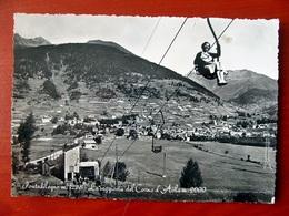 (FG.V30) PONTEDILEGNO / PONTE DI LEGNO - PANORAMA, LA SEGGIOVIA DEL CORNO D'AOLA (BRESCIA) VIAGGIATA 1955 - Brescia