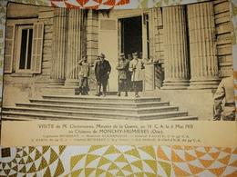 RARE CARTE POSTALE VISITE DE M.CLEMENCEAU 14/18 CAPT HUMBERT GENERAL NADAUD GENERAL HUMBERT - Autres Communes