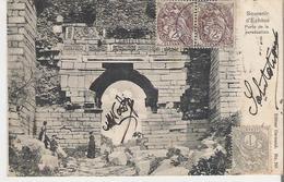 TURQUIE - EPHESE. CPA Voyagée En 1904  Porte De La Persécution (début De Décolement Des Feuillets) - Turkey