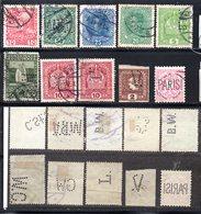 Österreich, Ca. 1914, 10 Briefmarken Mit Verschiedenen Perfins, Gestempelt (17904E) - Used Stamps