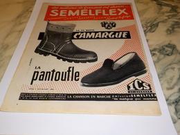 ANCIENNE  PUBLICITE PANTOUFLE DE SEMELFEX 1955 - Autres