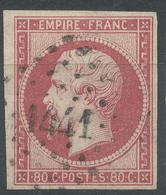 Lot N°52422  N°17B, Oblit PC 1441 Granville, Manche (48), Belles Marges, Ni Pli, Ni Clair - 1853-1860 Napoleon III