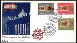 1969 - VATICANO - FDC + Y&T 488/490 [Europa] + CITTA DEL VATICANO - FDC