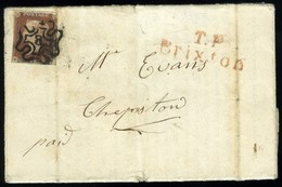 Great Britain. SG #8. Turned Letter From Bridgewater. - 1840-1901 (Victoria)