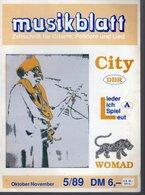 Revue De Musique -  Musikblatt N° 5 - 1989 - City Ddr - Musique