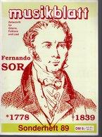 Revue De Musique -  Musikblatt N° 9 - 1989 - Fernando Sor - Musique