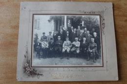 Photo Militaire Rare Les Militaires Et Administrateurs Civiles  Crimée ?  Vers 1920 - War, Military