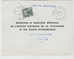 Gard  BROUZET Les ALES : CàD Type A7 /  LSC Taxée De 1961 - Postmark Collection (Covers)