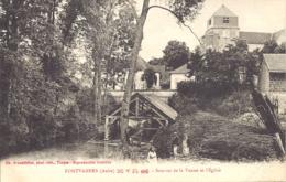 Fontvannes, Sources De La Vanne Et L'eglise - Francia