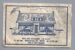 Suikerzakje.- HEILO. Hotel Café Restaurant - TOLHUIS -. K. Van Veen. Suiker Sucre Zucchero Zucker Sugar - Suiker