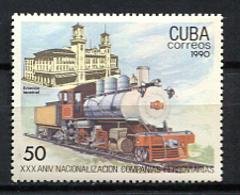 Cuba 1990 / Railways Trains MNH Trenes Ferrocarriles Züge / Cu8505  C3-3 - Trenes