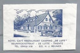 Suikerzakje.-  DE LUTTE. Hotel Café Restaurant Camping - DE LUTT - TWENTE. Suiker Sucre Zucchero Zucker Sugar - Suiker