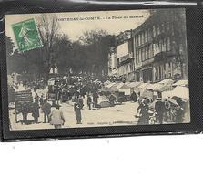 85-FONTENAY-le-COMTE-Beau Plan Animé Du MARCHE Sur La Plaçe - Fontenay Le Comte