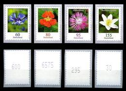 Alle 4 Selbstklebenden Blumen 2019 Aus Rollen** Mit Nummern, Postfrisch (sk19/skblu) - [7] Federal Republic