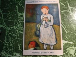 1 Carte Postale CONGRES DES PEUPLES POUR LA PAIX - Evenementen