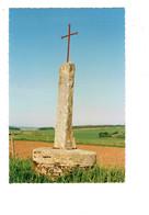 Cpm - BRANS - Jura - Croix ROUGE Avec Croix En Fer Sur La Route OFFLANGES / Brans - Autres Communes