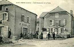 SAINT AMANS  = Café Restaurant De La Poste  1292 - Autres Communes