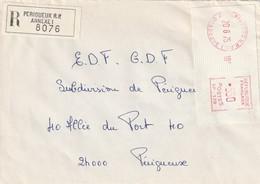 EMA Sur Env. : N° SP 178 (Périgueux RP Annexe 1, 24-Dordogne) Du 20-06-1975 En Recommandé - EMA ( Maquina De Huellas A Franquear)
