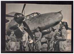 DT- Reich (008949) Propagandakarte Zerstörer Messerschmitt Me 110 Startklar Zum Feindflug In Nordafrika, Ungebraucht - Briefe U. Dokumente