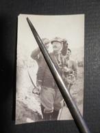 Militaria - WW1 - Photo Originale -  25 E R.I - Cap . Brégaint Sabre à La Main - S/ Lt  Préaux Et Adj. Petiau -1915 - 1914-18