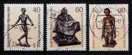 Berlin 1981  Mi.Nr: 655-657 Skulpturen  Oblitèré / Used / Gebruikt - [5] Berlin