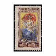 France WWI Plus Rien D'allemand  Stamps Vignette Poster Stamp - Militair