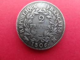 France  2 Francs Napoleon  1806 M Km 252 - France