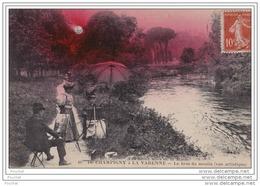 94)  De Champigny à La Varenne - Le Bras Du Moulin (vue Artistique) - (animée - Peintre) - Champigny Sur Marne
