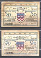 BAD HONNEF 50 ET 99 PFENNIGE 1-10-1921 - [ 3] 1918-1933: Weimarrepubliek