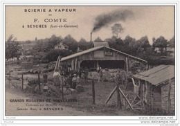 47) SEYCHES (Lot Et Garonne) Scierie à Vapeur De F. COMTE - Pub Grands Magasins De Nouveautés Costumes Sur Mesures - - Non Classés